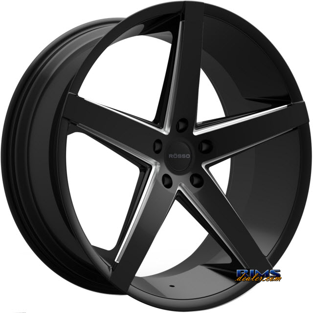 Pictures for Rosso Wheels AFFINITY (MILLED) black gloss