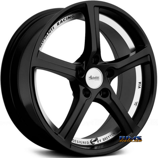 Pictures for Advanti Racing 76MB 15th Anniversary Black flat w/ Machined