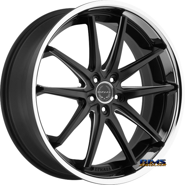 Pictures for Asanti Wheels ABL-5 Black Milled