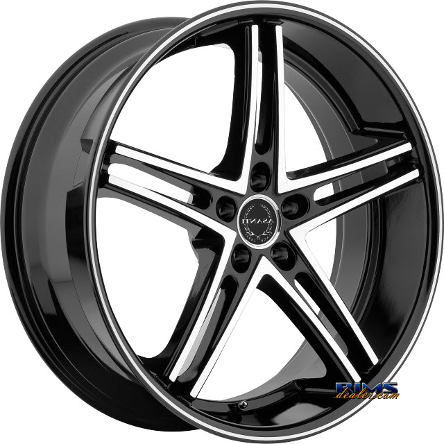 Pictures for Asanti Wheels ABL-7 Machined Black w/Black Lip