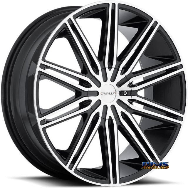 Pictures for Cavallo Wheels CLV-10 machined w/ black
