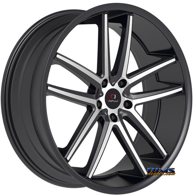 Pictures for Cavallo Wheels CLV-4 machined w/ black