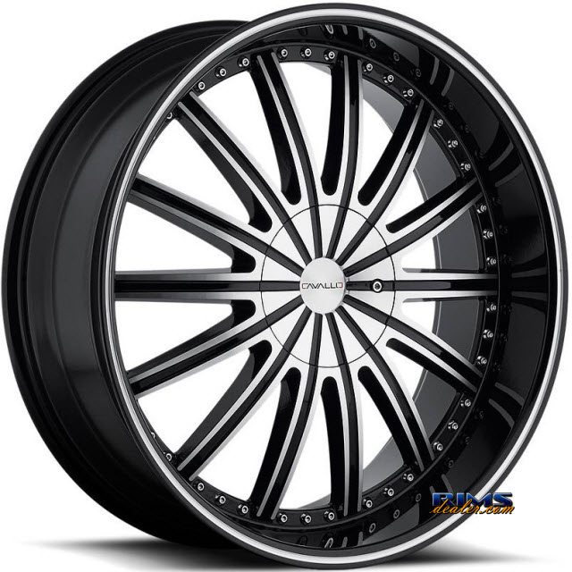 Pictures for Cavallo Wheels CLV-6 machined w/ black