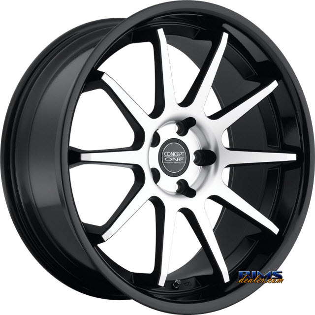 Pictures for Concept One CS-10 GLOSS BLK LIP black flat w/ machined