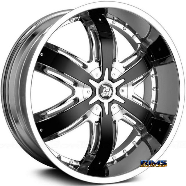 Pictures for Diablo Wheels RAZOR Chrome