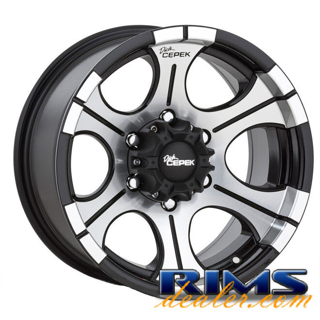 Pictures for Dick Cepek DC-2 (6-Lug) machined w/ black