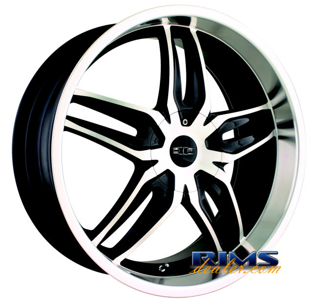 Pictures for Dip Rims BIONIC machined w/ black