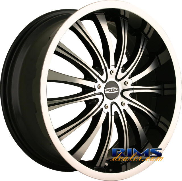 Pictures for Dip Rims HYPE machined w/ black