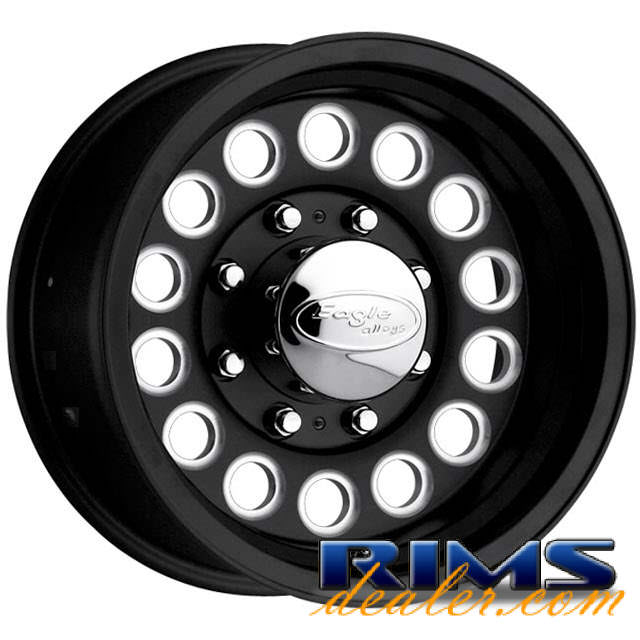 Pictures for EAGLE ALLOYS Series 101 machined w/ black