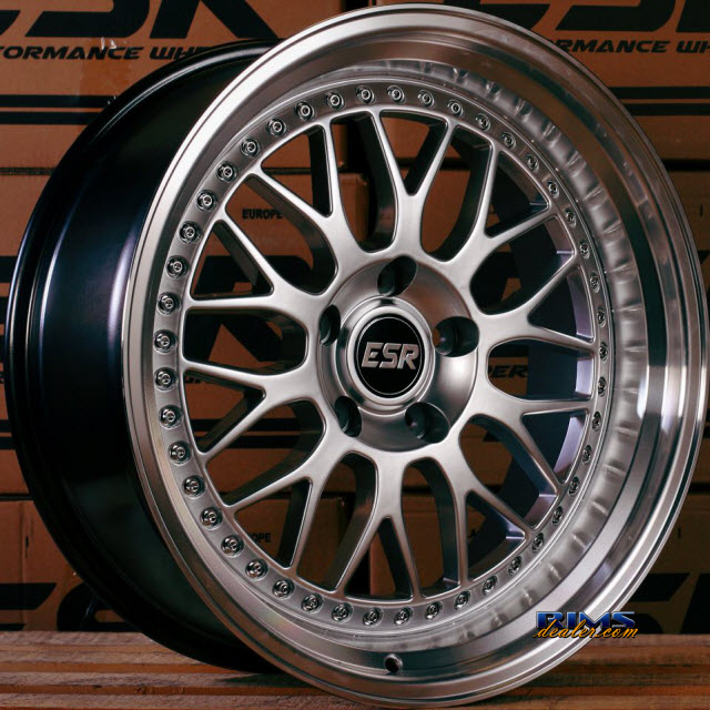 Esr Wheels Sr01 Rims And Tires Packages Esr Wheels Sr01 Hypersilver Wheels And Tires Packages