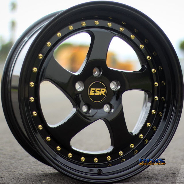 Esr Wheels Sr02 Rims Options View Esr Wheels Sr02 Black Gloss Wheels At Rimsdealer Com
