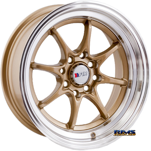 Pictures for F1R Wheels F03 Machined w/ Gold