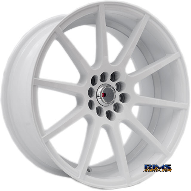 Pictures for F1R Wheels F17 White Flat