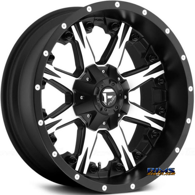 Pictures for Fuel Off-Road NUTZ Machined w/ Black