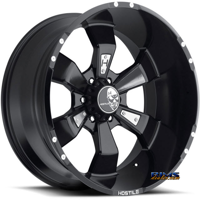 Pictures for Hostile Truck Wheels H103 HAMMERED 6 satin black