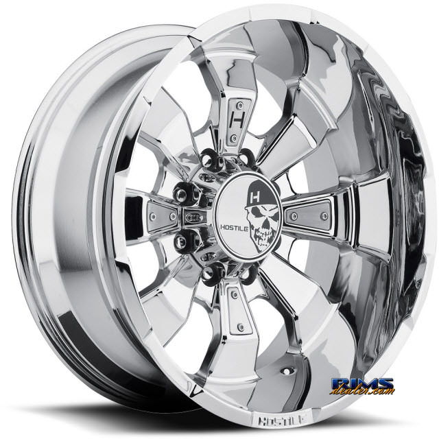 Pictures for Hostile Truck Wheels H103 HAMMERED 8 PVD chrome