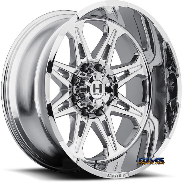 Pictures for Hostile Truck Wheels H102 - HAVOC 8 PVD chrome