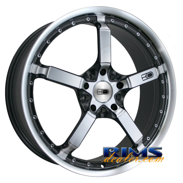 Pictures for HD Wheels Cool Down machined w/ black