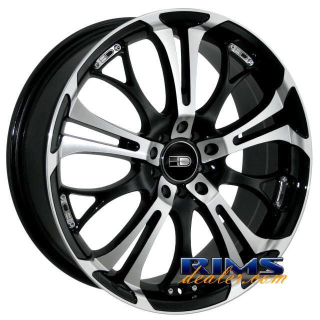 Pictures for HD Wheels Spinout black gloss