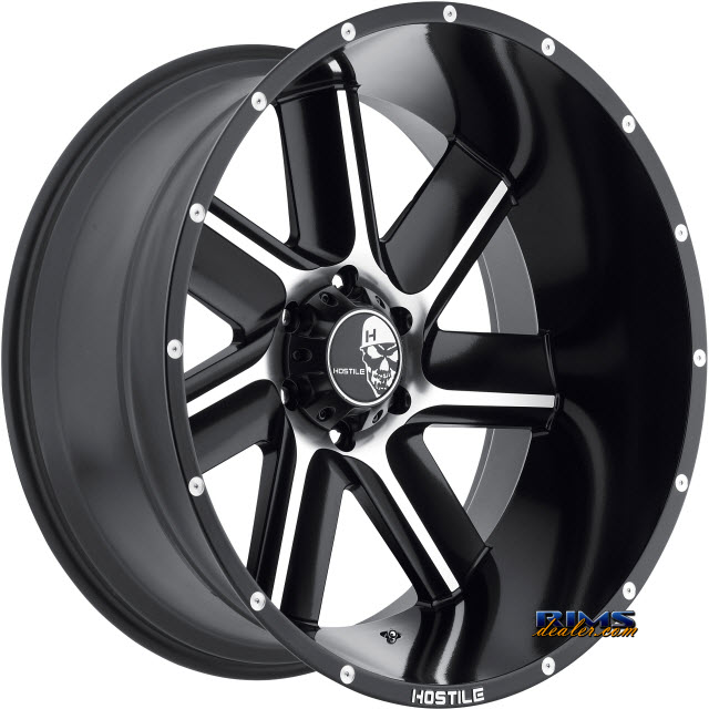 Pictures for Hostile Truck Wheels H106 Machined w/ Black