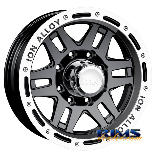 Pictures for Ion Alloy Wheels 133 off-road machined w/ black