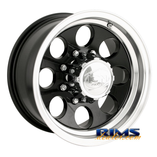 Pictures for Ion Alloy Wheels 171 off-road machined w/ black