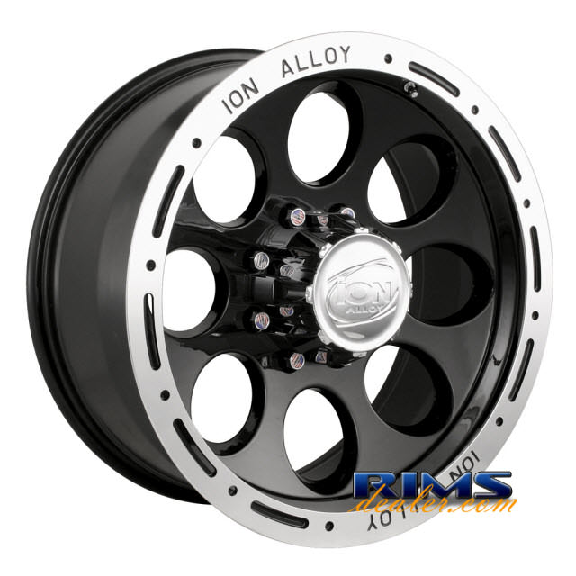 Pictures for Ion Alloy Wheels 174 off-road machined w/ black