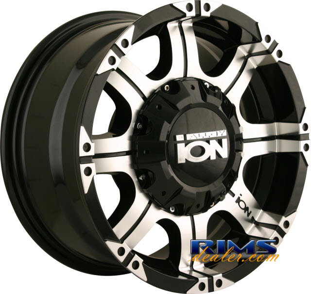 Pictures for Ion Alloy Wheels 187 off-road machined w/ black
