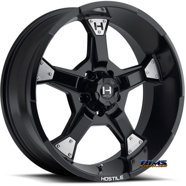 Pictures for Hostile Truck Wheels H101 - KNUCKLES 5 satin black