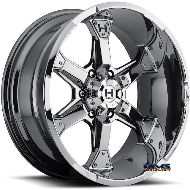 Pictures for Hostile Truck Wheels H101 KNUCKLES 6 - PVD chrome