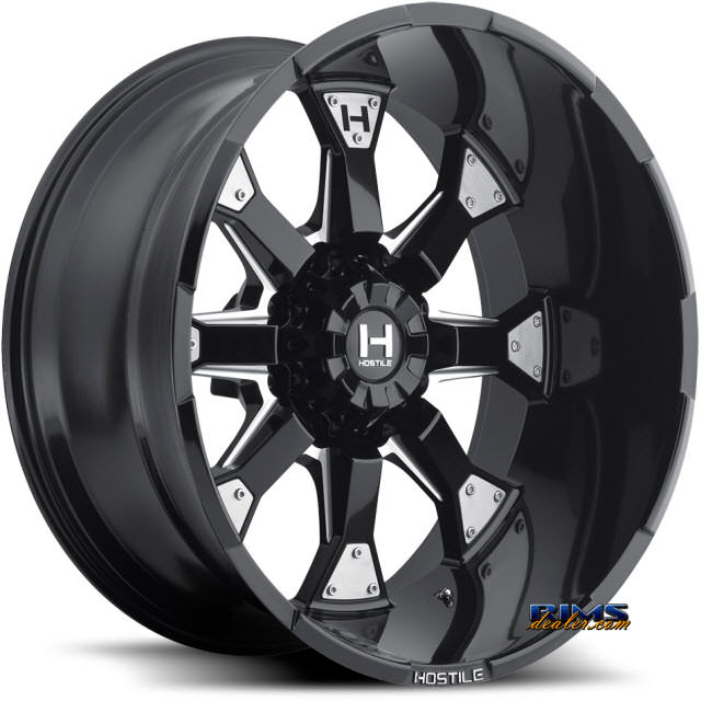 Pictures for Hostile Truck Wheels H101 - KNUCKLES 8 black flat w/ machined