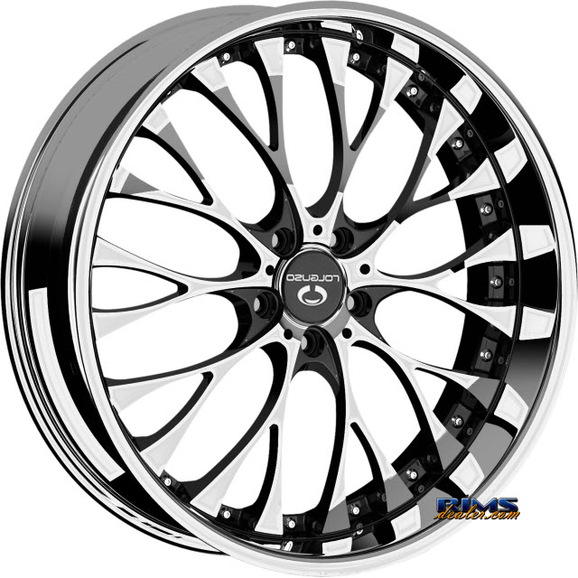 Lorenzo Wl27 Rims And Tires Packages Lorenzo Wl27 Chrome W Black