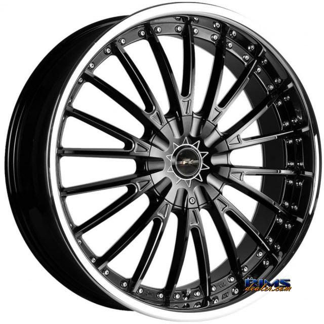 Pictures for FK Ethos Wheels LX-M black flat