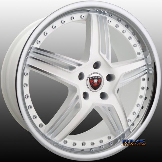 Pictures for MERCELI Wheels M13 - Chrome Lip machined w/ white