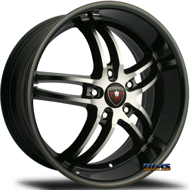 Pictures for MERCELI Wheels M16 machined w/ black