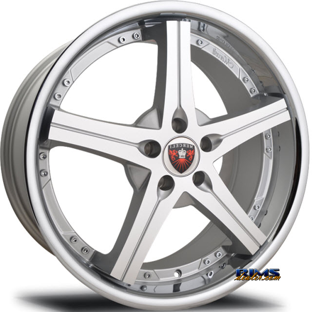 Pictures for MERCELI Wheels M41 - Chrome Lip machined w/ silver