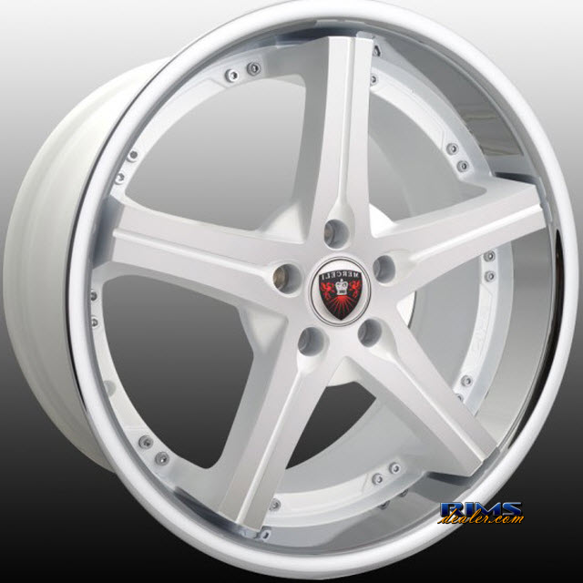 Pictures for MERCELI Wheels M41 - Chrome Lip machined w/ white