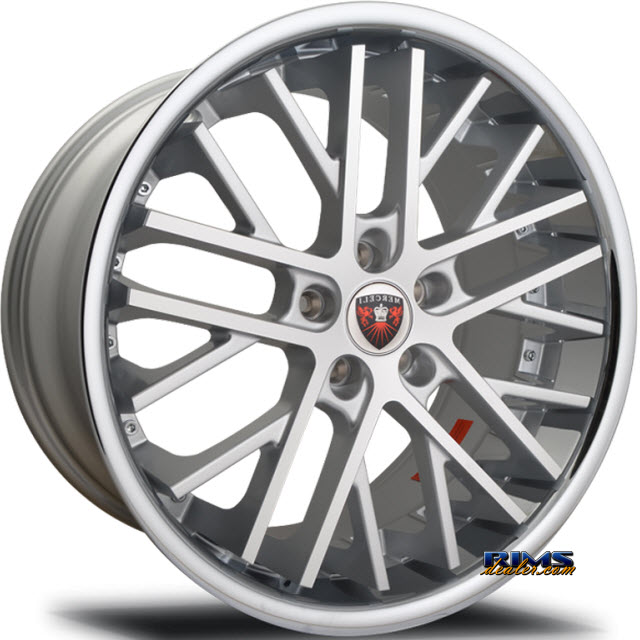 Pictures for MERCELI Wheels M45 - Chrome Lip machined w/ silver