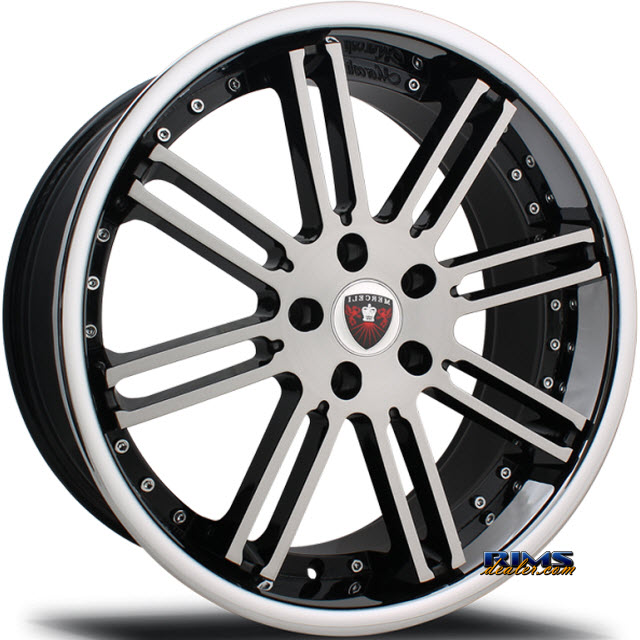 Pictures for MERCELI Wheels M48 - Chrome Lip machined w/ black