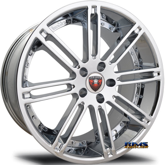 Pictures for MERCELI Wheels M48 - Chrome Lip machined w/ silver