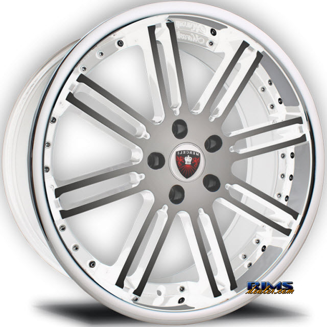 Pictures for MERCELI Wheels M48 - Chrome Lip machined w/ white