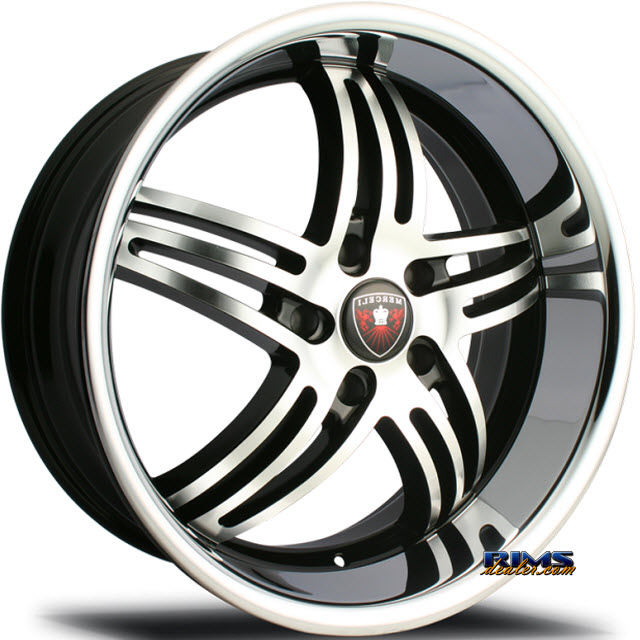 Pictures for MERCELI Wheels M4 - Chrome Lip machined w/ black