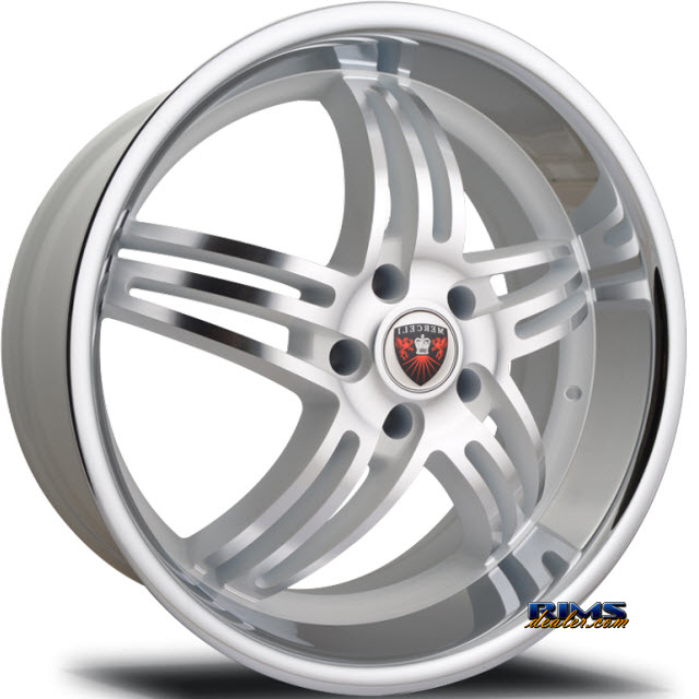 Pictures for MERCELI Wheels M4 - Chrome Lip machined w/ silver