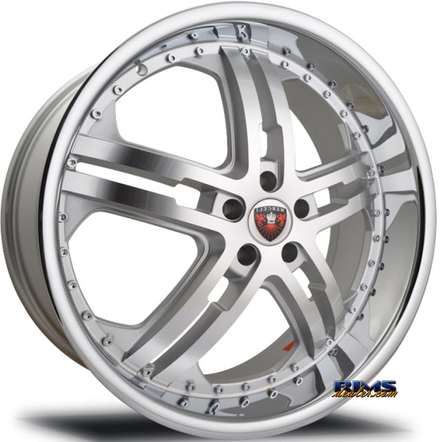 Pictures for MERCELI Wheels M6 - Chrome Lip machined w/ silver