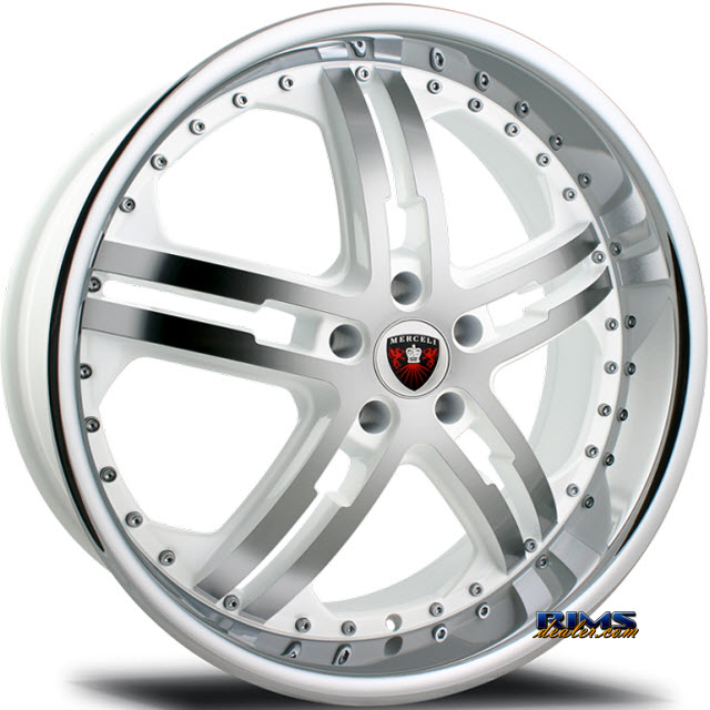 Pictures for MERCELI Wheels M6 - Chrome Lip machined w/ white