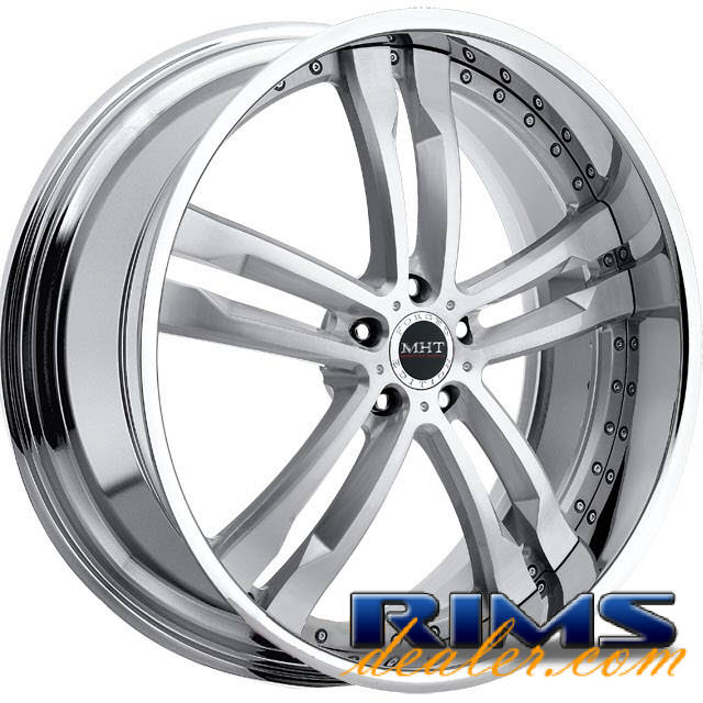 Pictures for MHT Forged PHASE (5-LUG) brushed aluminum