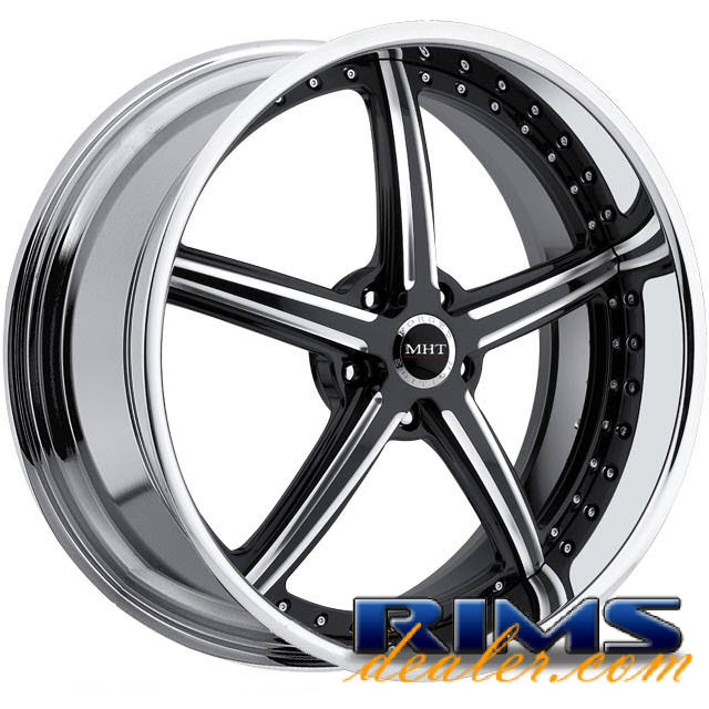 Pictures for MHT Forged STILLETO (5-LUG) machined w/ black