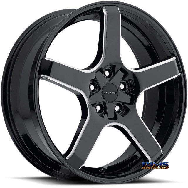 Pictures for Vision Wheel Milanni VK-1 464 (5 lugs only) black gloss
