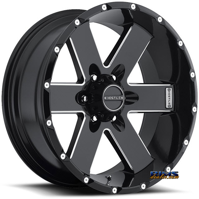 Pictures for Hostile Truck Wheels H100 - MOAB 6 black flat w/ machined