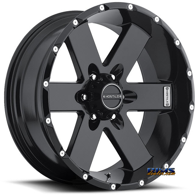 Pictures for Hostile Truck Wheels H100 - MOAB 6 satin black